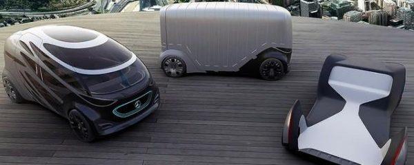 Компания Mercedes представила беспилотник со сменными кузовами
