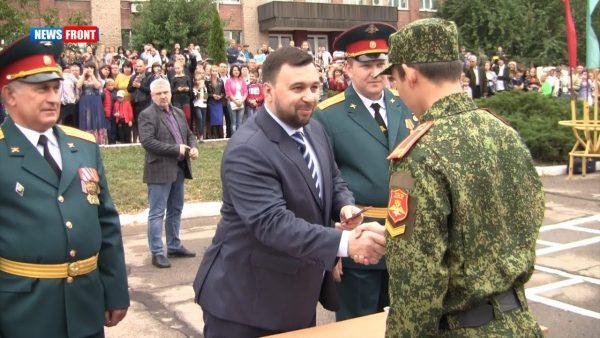 Врио главы ДНР Денис Пушилин посетил донецкий лицей имени Берегового